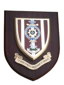1st bn POW Prince of Wales Own Regiment of Yorkshire Military Wall Plaque Shield